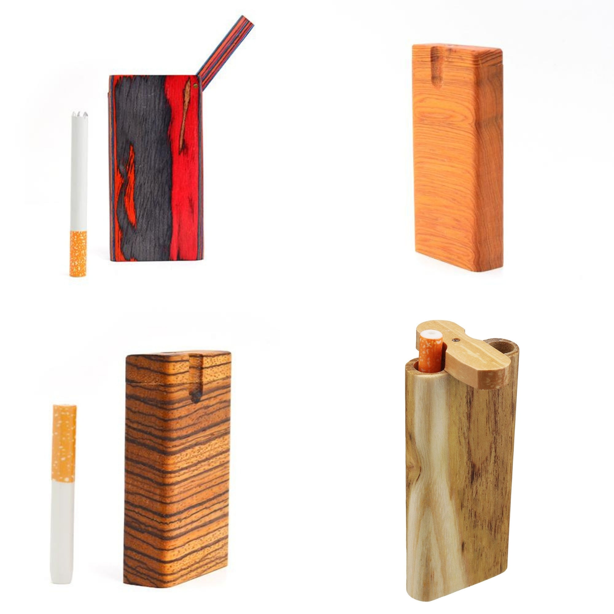 Four wooden dugout one hitter collection