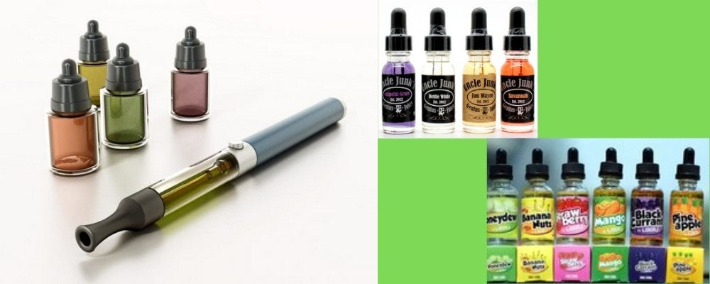 Different Brands of E-Juice and a Vape Pen