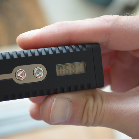 Changing the vape temperature