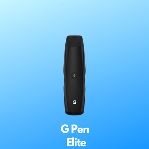 G Pen elite in black with a blue background