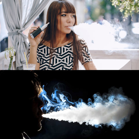 OHM vaping as you can see here produces large clouds of vapor