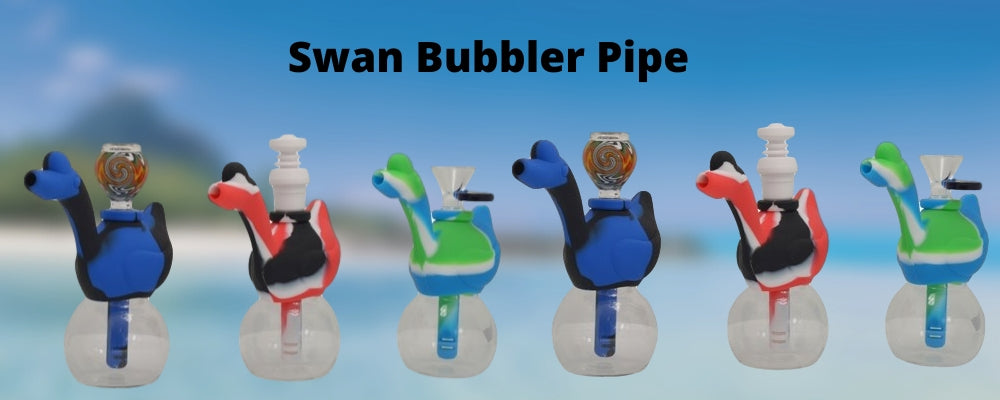 Swan Bubbler Pipe - Made of Silicone and Glass