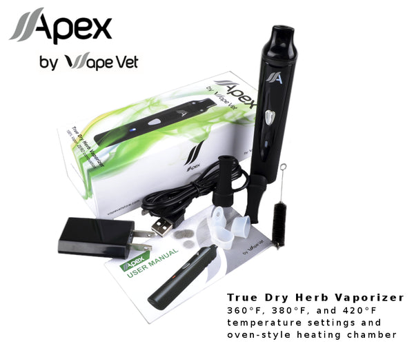Apex True Dry Herb Vaporizer and Accessories