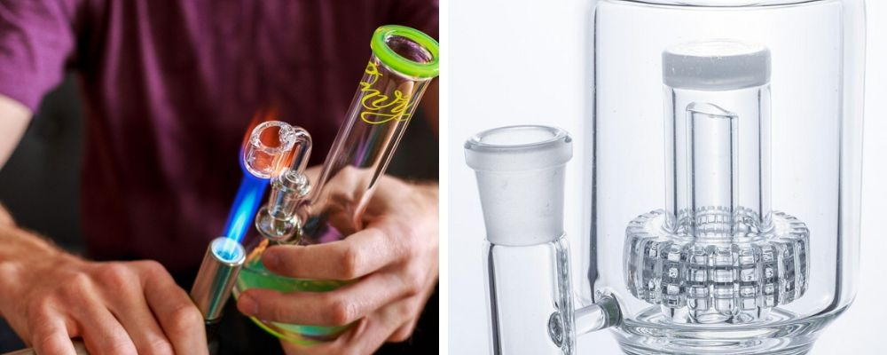 Dab Rig vs Percolator Bong