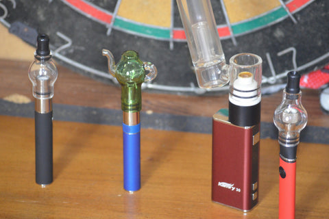 Different types of Glass Globe Wax Pen Vapes