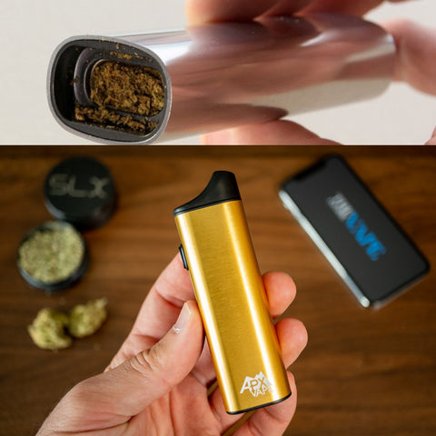 dry herb vaporizer packed with herbs