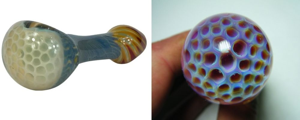 Inside-Out Honeycomb Glass Pipe