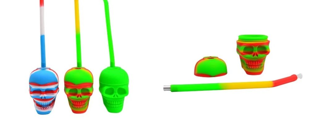 Silicone Skull Bubbler Pipes