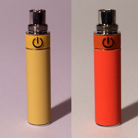 Vape batteries red and yellow