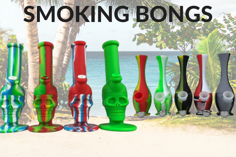 Silicone Bongs and Silicone Skull Bongs