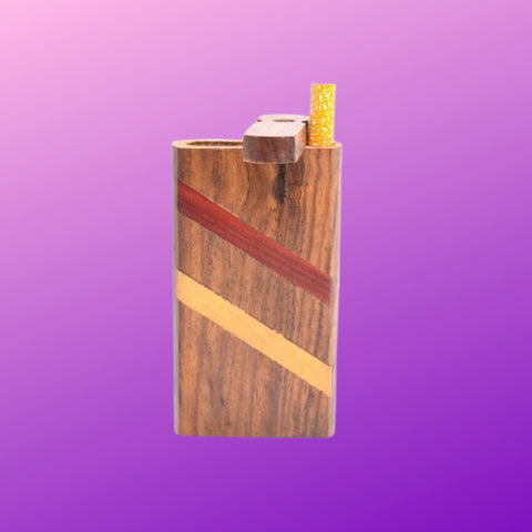 wooden dugout pipe purple background