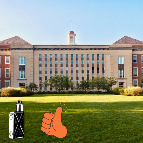 vaping in front of your college campuses