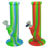 10 Inch Silicone Bongs with Glass Bong Bowl Piece