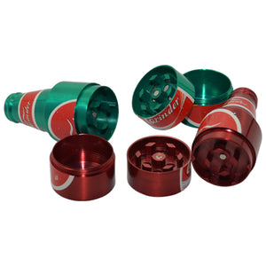 Beer Bottle Herb Grinders come in a variety of colors