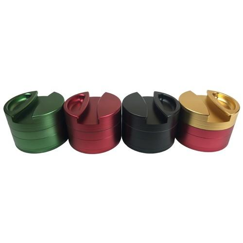 4 Piece Grinder with Rolling Paper Holder
