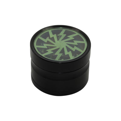 Green Lightning Bolt 4 Piece Herb Grinder for Sale