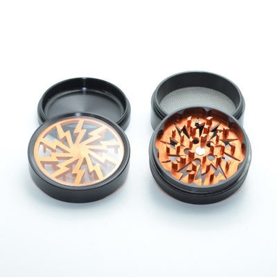 Lightning Bolt Herb Grinder Comes in 4 Pieces