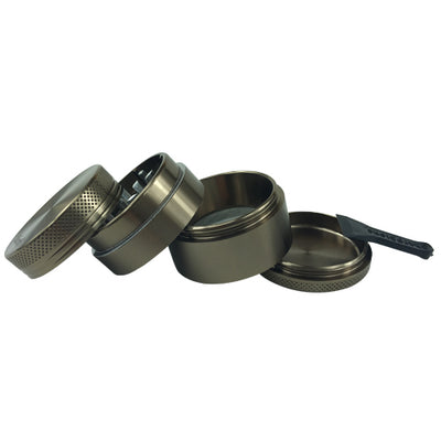 Herb Grinder 4 Piece Sharpstone Brown - Vape Vet Store