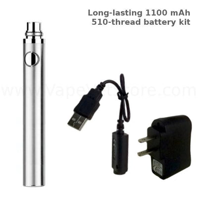 510-Thread 1100 mAh Battery Kit (Long-lasting) - Vape Vet Store