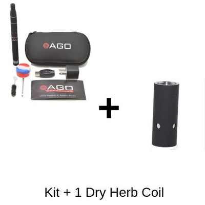 AGO Vaporizer Kit and One Dry Herb Coil