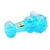 Blue Glass Liquid Glitter Pipe