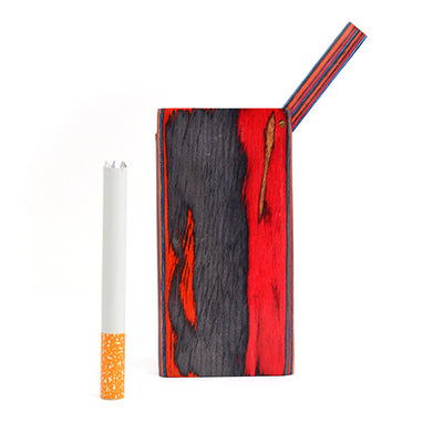 Flip Top Dugout Pipe with Cigarette One Hitter
