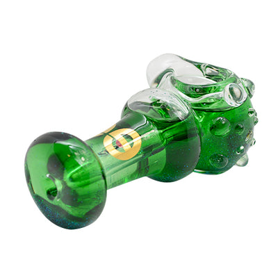 Green Glass Liquid Glitter Pipe