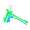 Hammer Bubbler Silicone Pipe Green White Blue
