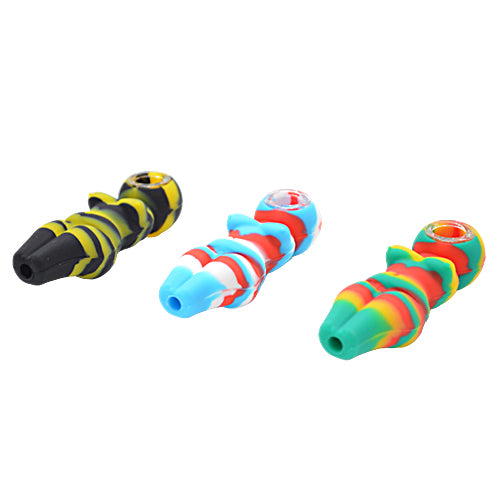 Three Different Color Silicone Naked Lady Pipes