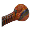 Dichroic Swirl Glass Pipe has a deep bowl for large packings