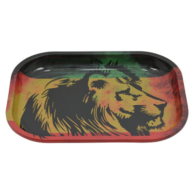 Lion Rolling Tray Made of Tin Metal