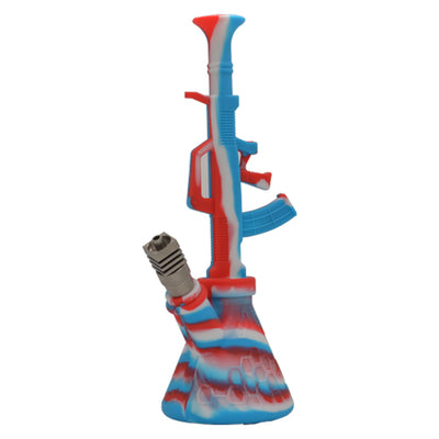 Ak47 Silicone Dab RIg Can be Used with a Titanium Nail