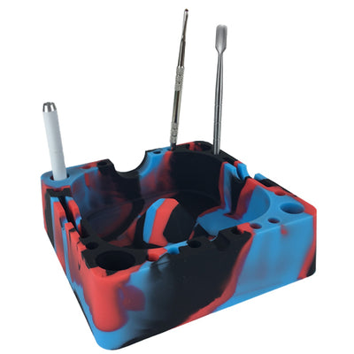 Silicone Ashtray with dab tools and dugout pipe - Vape Vet Store