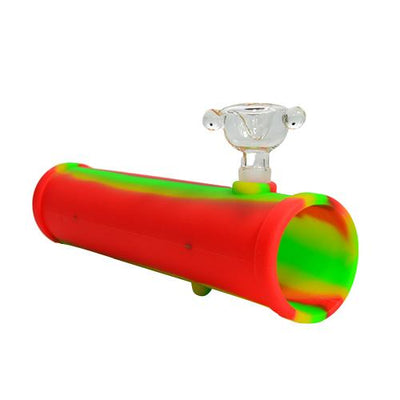 Silicone Steamroller Pipe with Bong Bowl
