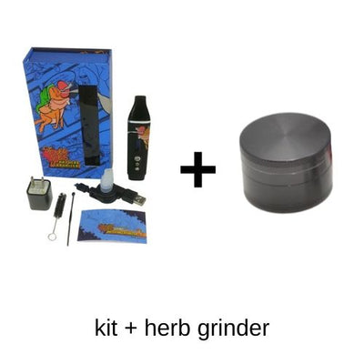 Stoner Joe Vaporizer with 4 Piece Herb Grinder