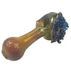 Yellow Spoon Pipe Dipped into Bismuth - Designed by Tony Kazy