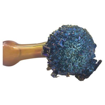 Hand Blown Glass Spoon Pipe dipped into Bismuth