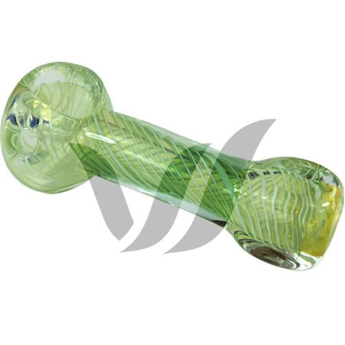 Green Twisty Glass Spoon Pipe - Vape Vet Store