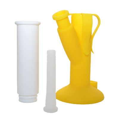 Banana Silicone Bong Separated into three pieces
