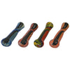 Black Sparkle Glass Chillum Pipe with Dichroic Swirls - Vape Vet Store