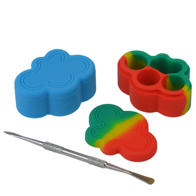 Cloud Shape Dab Containers with Dab Tool - Vape Vet Store