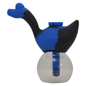 Blue and Black Swan Silicone Bubbler Pipe for Sale