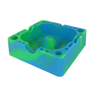 Blue and Green Silicone Ashtray For Sale - Vape Vet Store