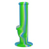 Blue Green and White 10 Inch Silicone Bong For Sale