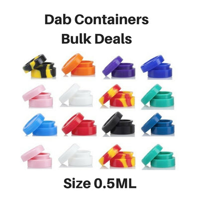 0.5ml silicone containers for storing wax and shatter - Vape Vet Store