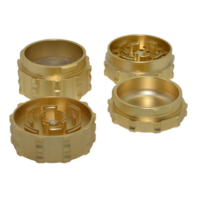 Decagon Herb Grinder is made of 4 pieces