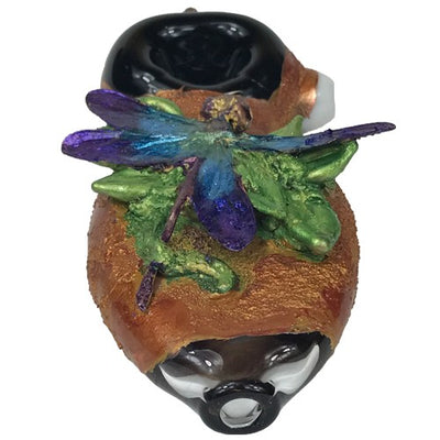 Electroformed Dragonfly Glass Spoon Pipe - Vape Vet Store
