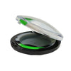 Flat Dab Containers Green White Black Color
