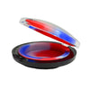 Flat Dab Container Red White and Blue Color