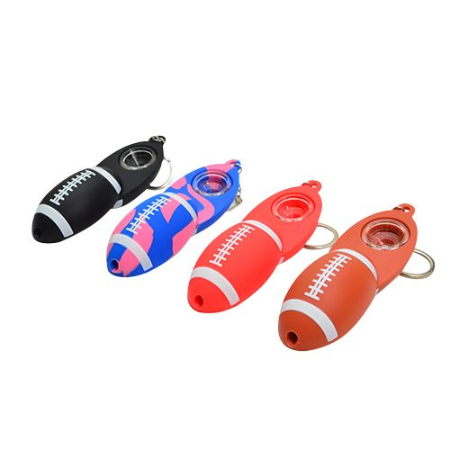 Silicone Football Keychain Pipe